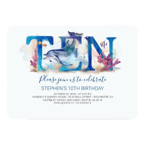 10 Birthday Invitation Under the Sea Marine Park