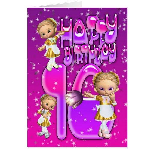 Glitter Happy Birthday Card Russian