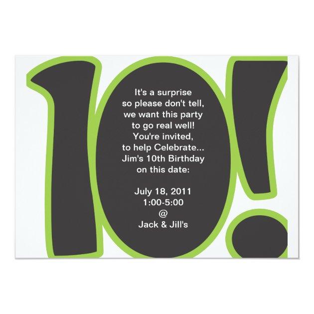 10th Birthday Invite Zazzle Com