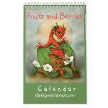 11x7 Fruits and Berries dragon 2018 calendar