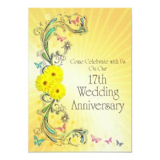 17th Wedding Anniversary Cards  Zazzle