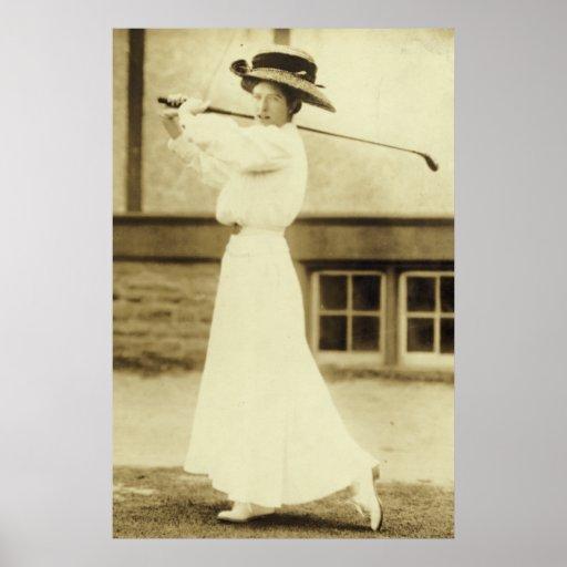 1908 Womens GOLF Champion Katharine Harley Poster