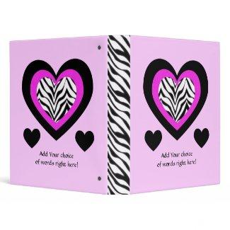 """1"""" Avery : Zebra Heart Binder"""