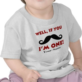 1st Birthday Mustache Personalized T-shirt