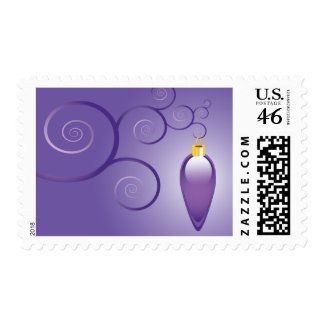 2010 Christmas Ornament Purple Postage Stamps stamp