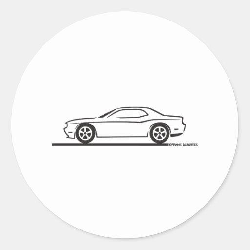 2010 Dodge Challenger Round Stickers