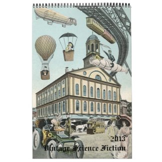 2013 Vintage Steampunk Science Fiction Sci Fi Wall Calendar