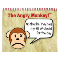 2014 Angry Monkey Disgruntled Employee Work Humor Wall Calendars