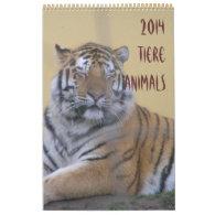 2014, calendar, animals,tiere