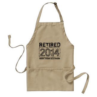2014 retirement BBQ party apron for men
