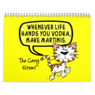2014 Sarcastic Remarks of Catty Kitten Humor Wall Calendar