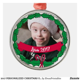 2017 PERSONALIZED CHRISTMAS ORNAMENTS