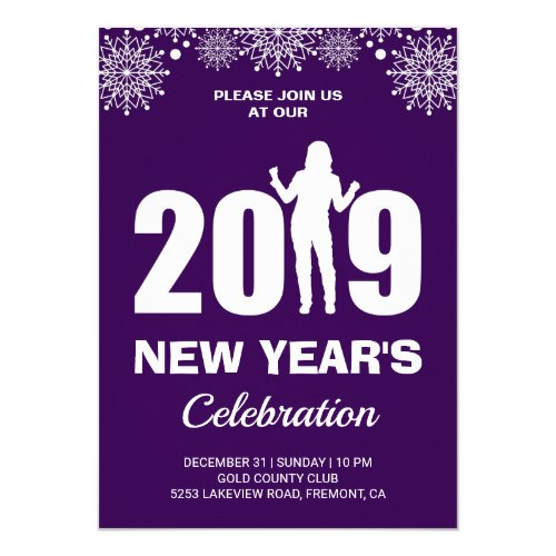 2019 New Year's Eve Party Invitation