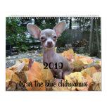 2019 Oscar the blue chihuahua calendar