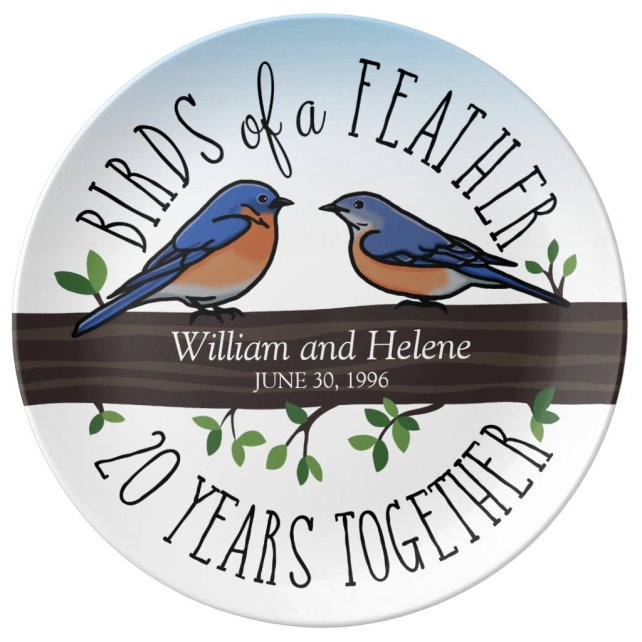 20th Wedding Anniversary, Bluebirds of a Feather