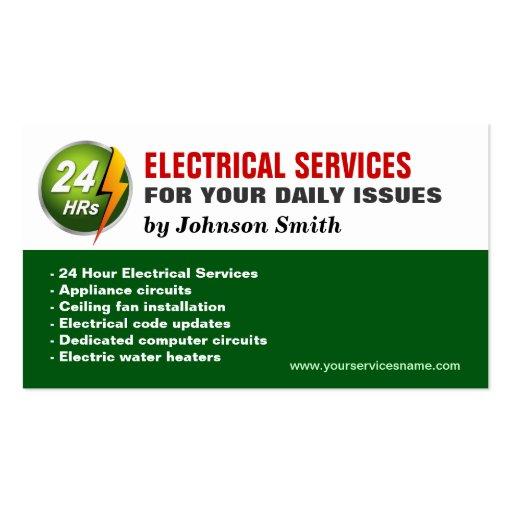 24 Hour Electrician Electrical Power Lighting Business