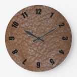 2D Photo-sampled Faux Leather-look Design Wall Clocks