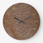 2D Photo-sampled Faux Leather-look Design Clock