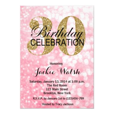 30th Birthday Glitter Lights Party Invitation