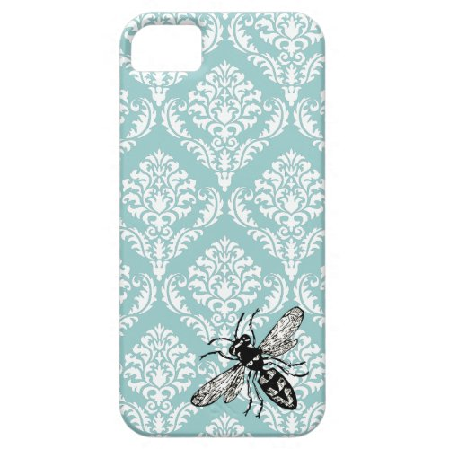 311 Vintage Blue Damask Bee Hornet iPhone Cover