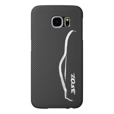 350Z White Silhouette Logo Samsung Galaxy S6 Case