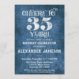 35 years birthday invitations zazzle