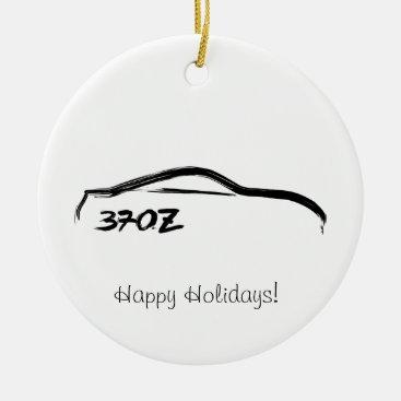 370Z Black Brushstroke Ceramic Ornament