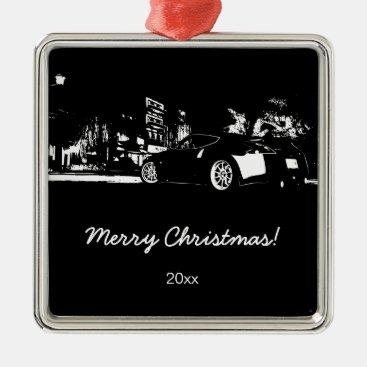 "370Z ""rear stance"" Christmas Ornament"