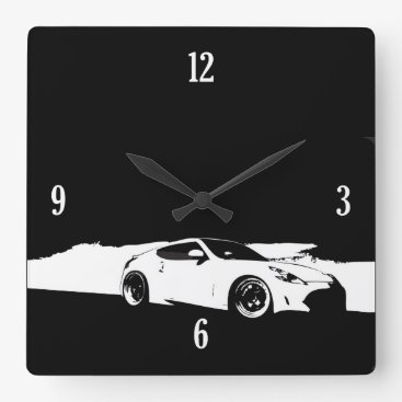 370Z Rolling Shot Square Wall Clock