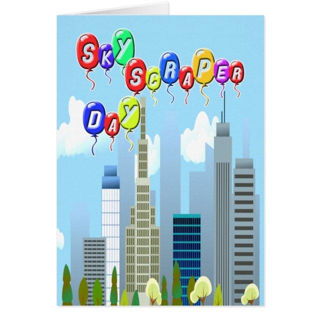 3-27 Skyscraper Day Card