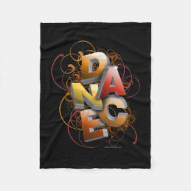 3D Dance (Fall) Fleece Blanket