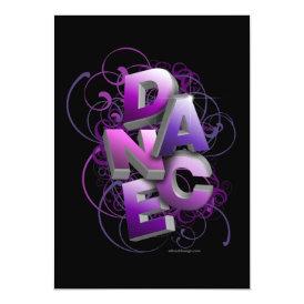 3D Dance (Summer) Recital Invitation