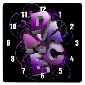 3D Dance (summer) Square Wall Clock