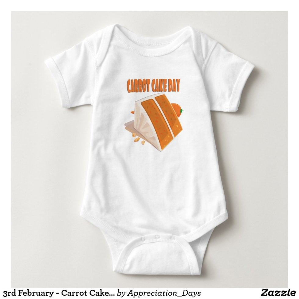 3rd February - Carrot Cake Day Baby Bodysuit