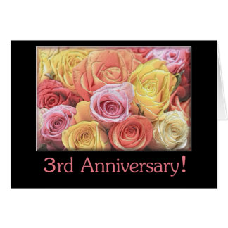 3rd Wedding Anniversary Cards  Greeting  Photo Cards  Zazzle