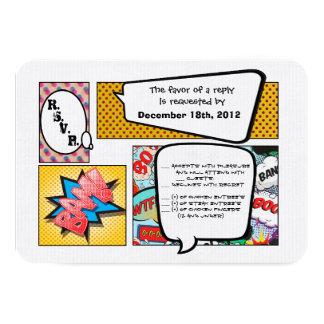 3x5 R S V P Reply Card Ic Strip Book Pop Art