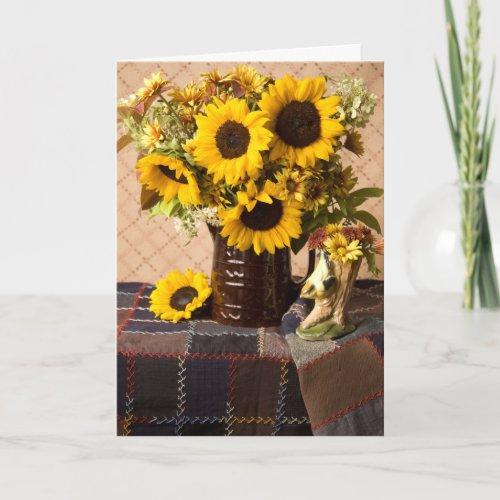 4038 Sunflower Bouquet Sympathy Card