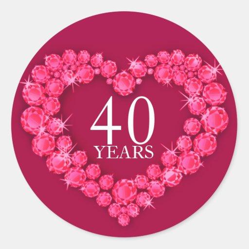 700 40th Anniversary Stickers and 40th Anniversary Sticker Designs  Zazzle