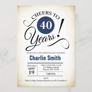 vintage 40th birthday invitations zazzle