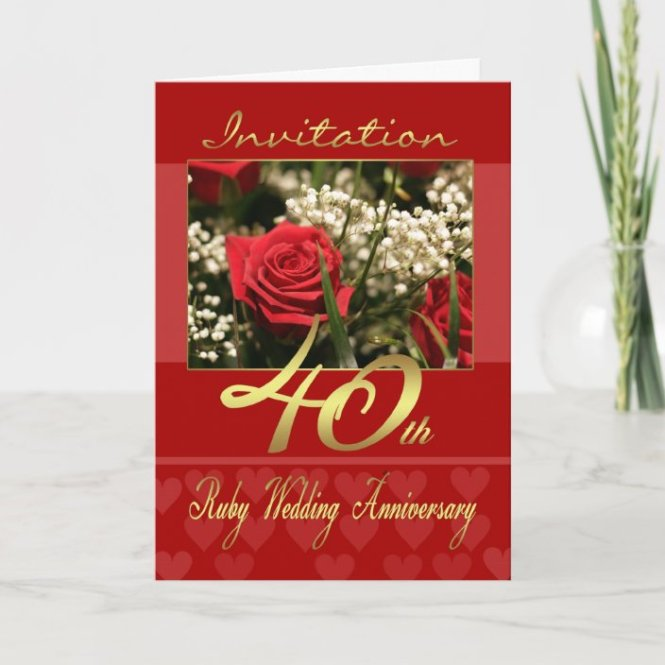 40th Wedding Anniversary Invitation