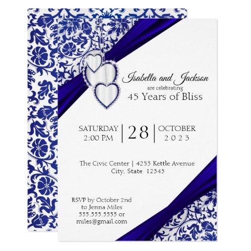 45th / 65th Sapphire Anniversary Invitation