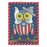 ❤️ 4TH OF JULY AMERICAN OWL GREETING CARD Verse