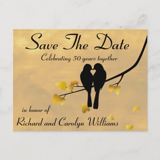 50th anniversary lovebirds save