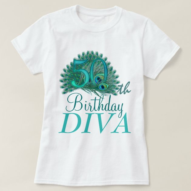 50th Birthday Diva Shirts Zazzle