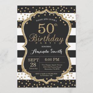 women 50th birthday invitations zazzle