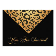 50th Birthday Party Invitation in Leopard