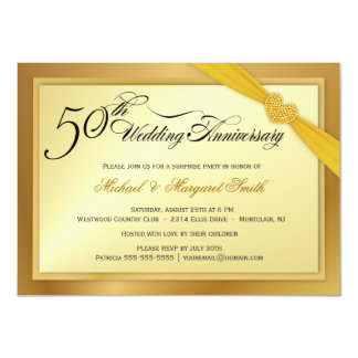 Golden Wedding Invitations Wording How To Make Your Own Using Word 20