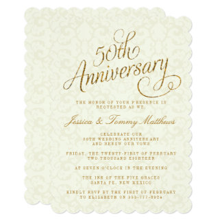50th Wedding Anniversary Invitations Mixed With Your Creativity Will Make This Looks Awesome 13