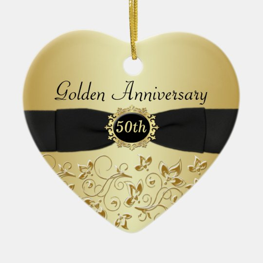 50th Wedding Anniversary Christmas Ornament  Zazzlecom