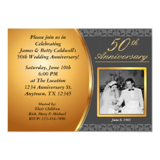 50th Wedding Anniversary Invitation For Everyone